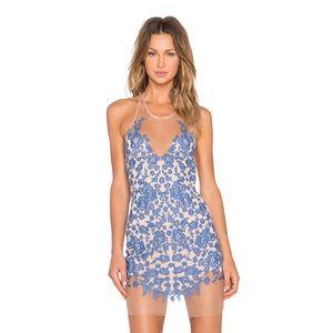 For Love And Lemons Luau Halter Mini Dress